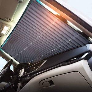 09_Front Windshield Car Auto Truck 45cm Retractable Sun Shade Visor Block Cover